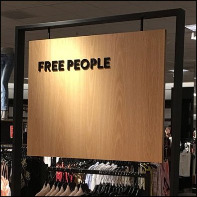 Free People Non-Bohemian Branding In-Store