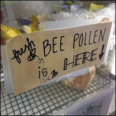 Fresh Bee Pollen Cooler Door Sign Feature