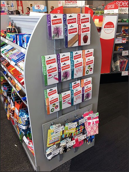 Shelf Edge Gift Card Holder In Retail Fixtures Close Up
