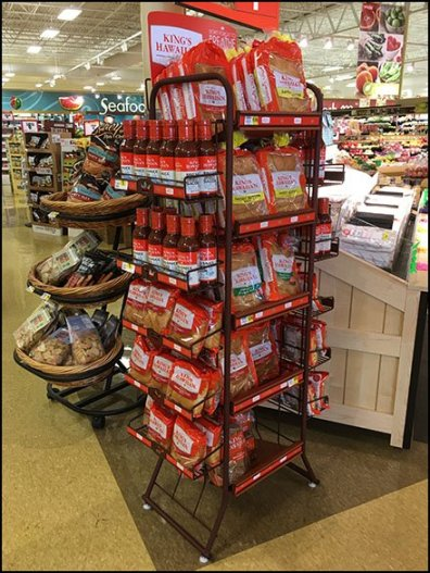 Rust Finish Display Rack By Kings Hawaiian