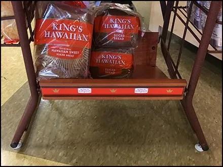 Rust Finish Rack Base Detail For Kings Hawaiian