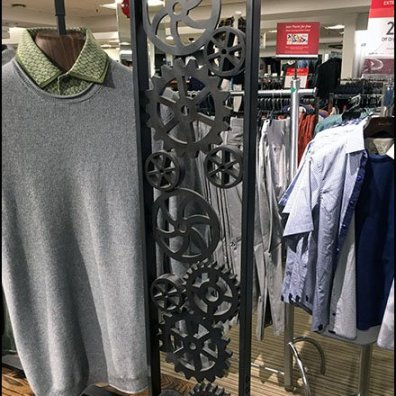 Gear-Drive Visual Merchandising Rack Display