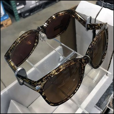 Kirkland Signature Branded Sunglass Mirror Display Feature