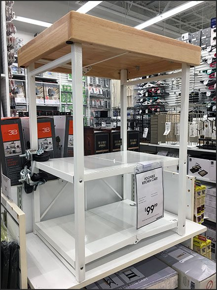 Some Assembly Required Kitchen Cart Sale