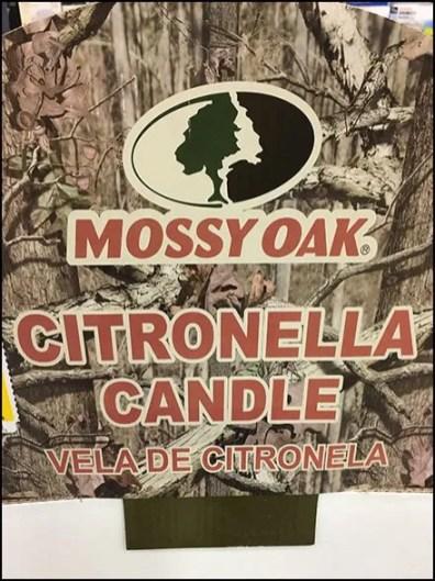 Citronella Candle Quarter Pallet Display