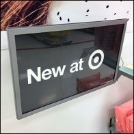 New At Target Pegboard Sign Holder Feature