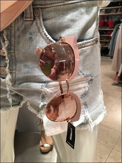 Pink Sunglasses Apparel Ensemble at Express