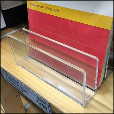 Shelf-Top Acrylic Stand For Moleskin Journals