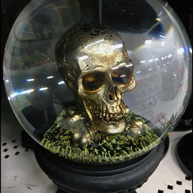 Crystal Ball Skull Prop for Halloween