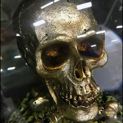 Crystal Ball Skull Prop for Halloween