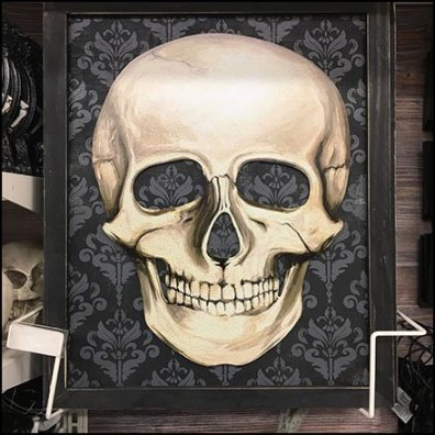 Skull Frame Holder for Halloween Feature