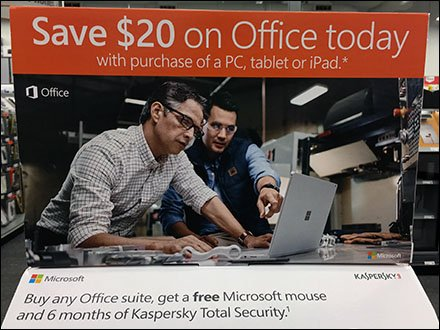 Two-Fer Pick Card For Microsoft Office Deal