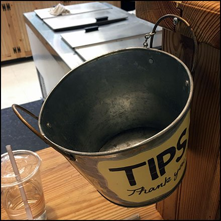 Two-Fisted Tips Bucket Handles Gratuities