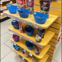 Sample Try-Me EndCap at Vitamin Shoppe