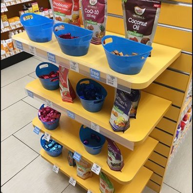 Sample Try-Me EndCap at Vitamin Shoppe