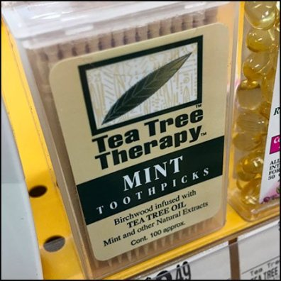 Vitamin Shoppe Tea Tree Toothpick Merchandising Feature