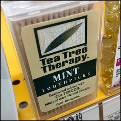 Vitamin Shoppe Tea Tree Toothpick Merchandising Feature