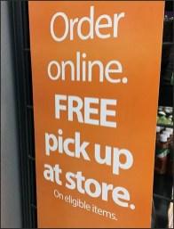 Online Order Pickup Free PowerWing Sign