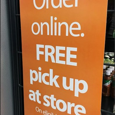 Online Order Pickup Free PowerWing Sign