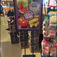 Weis Locally Grown Produce Floorstand Sign 3