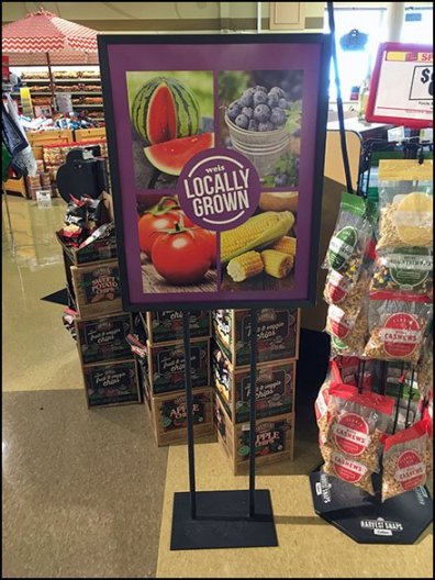 Weis Locally Grown Produce Floorstand Sign 3