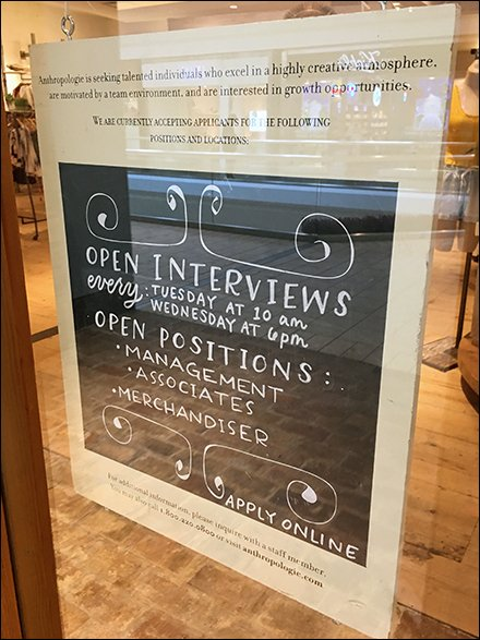 On-Site Open Interviews Promote Retail Hiring