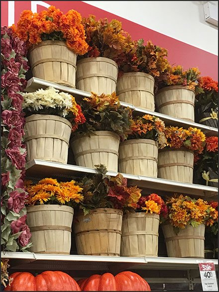 Fall Flowers Bushel Basket Bulk Bins