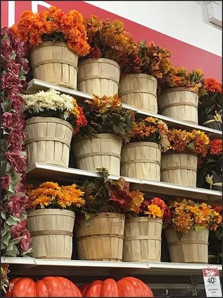 Fall Flowers Bushel Basket Bulk Bins