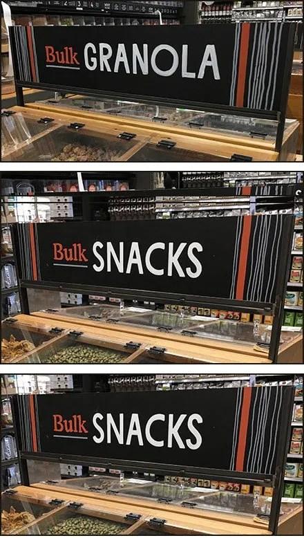 Bulk Food Branded Category Signage