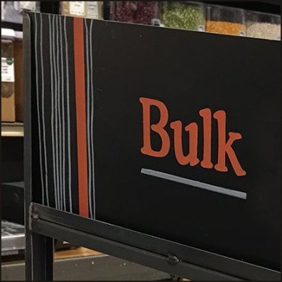 Bulk Food Branded Category Signage