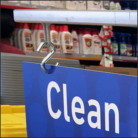 Clean Up The Clutter S-Hook Sign Aux