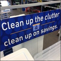 Clean Up The Clutter Floorstand Sign