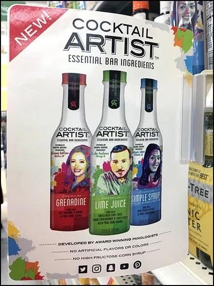 Cocktail Artist Shelf Edge Flag Shout-Out