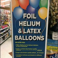 Helium Balloon Pegboard Panel Merchandiser
