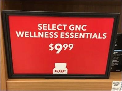 GNC Endcap Category Definition Signage 2