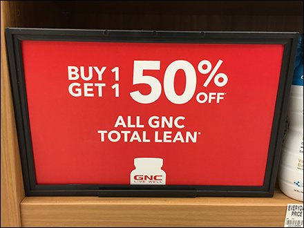 GNC Endcap Category Definition Signage 4