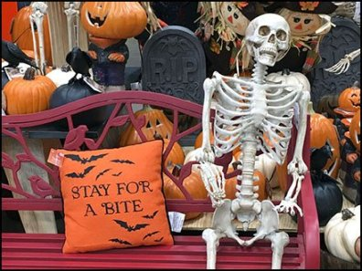 Halloween Bench As Shopper Amenity