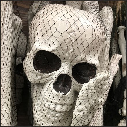 Halloween Bone Mesh Bag Merchandising By Utility Hook Feature