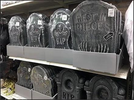 Gravestone Merchandising for Halloween