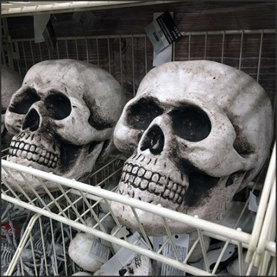 Halloween Skull Endless Basket Outfitting Feature