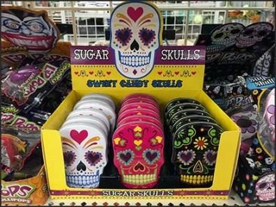Halloween Sugar Skull Shelf-Top Merchandising