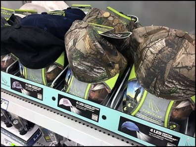 Shelf-Top Rack for Outdoor Cap Sales