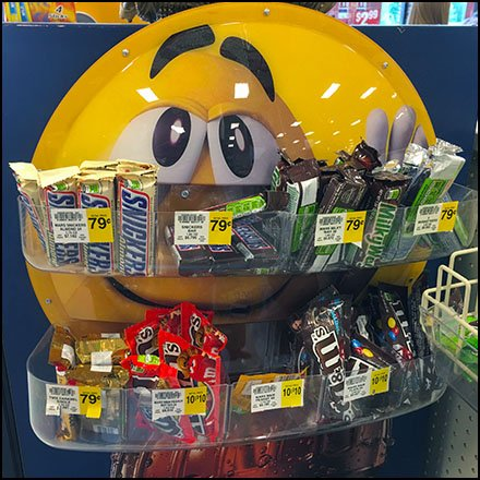 M&M's Yellow Magnetic Mount Tray Concept