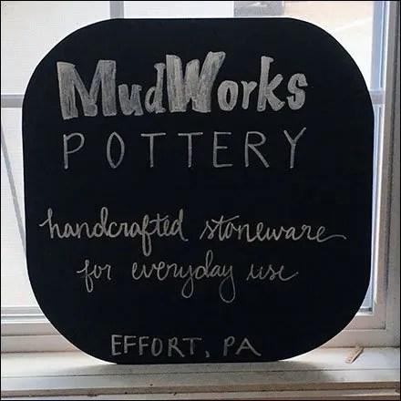 MudWorks Pottery Chalkboard Branding