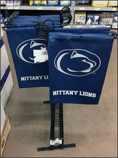 Nittany Lions Lawn Flag Displayer
