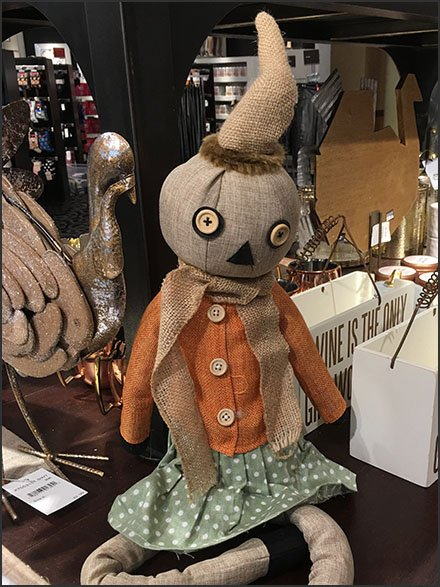 Handcrafted Halloween Pumpkin Head Doll by Nordstrom