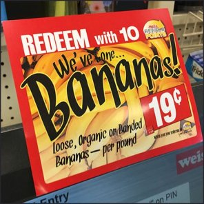 Now Redeem Points For Organic Bananas