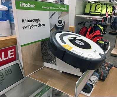 iRobot Roomba Shelf-Top Endcap Display
