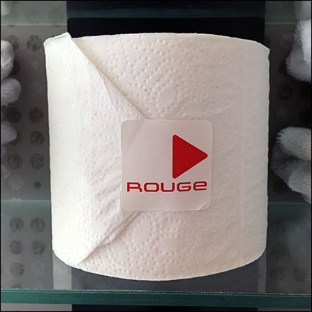 Rouge Hotel Retail Fixtures - Branding Toilet Paper in Hospitality Retail
