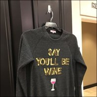 Say You'll Be Wine T-Shirt Pin-Up Hook
